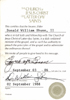 LDS Church ministerial certificate for William Shunn
